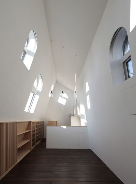 Attic conversion in a Tokyo house