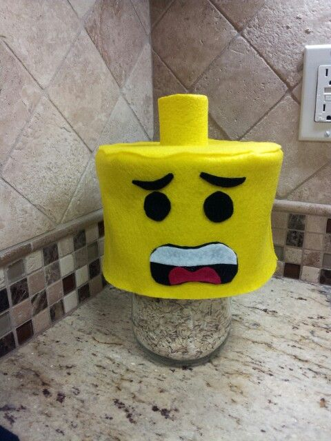Lego Hat Topper! Just putt over a fedora style hat or wear alone!! Crazy hat day!