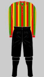 The first strip of Watford F.C, 1898.