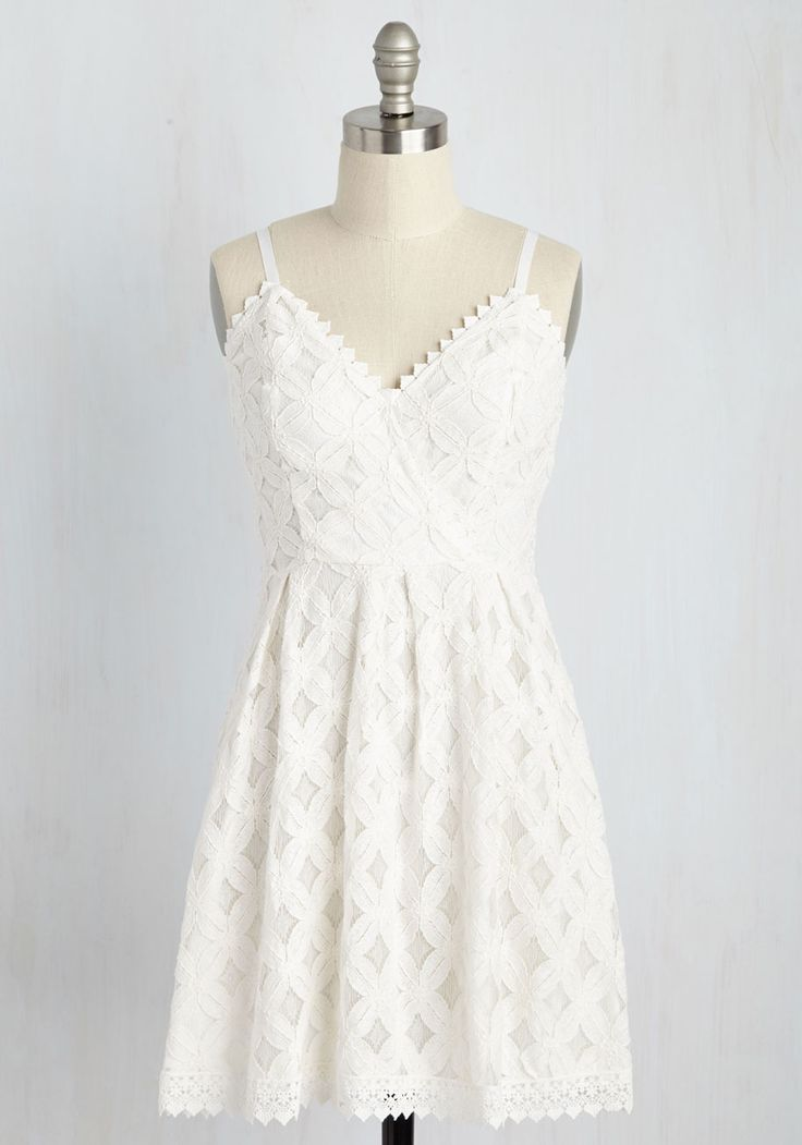 Cape Cruising Dress in Ivory. Shore hopping in this ivory sundress is what warm weather is all about! #white #modcloth