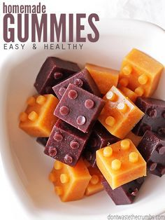 My kids LOVE these healthy homemade gummies & I love that there's no junk & just 2 ingredients. Ready in 15 minutes too, great for a snack or school lunch!