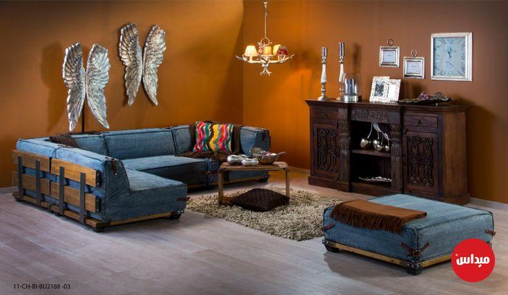 اللون الأزرق لون عميق للغاية وهو من الألوان الباردة التي لها سحر خاص جدا فهو يضفي شعور بالهدوء والسلا Modern Sofa Set Sofa Set Online Modern Sofa Designs