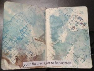 Why ART Journal? Blog post by Dale Anne Potter that shows how a journal spread turned into a Fabric Design.
