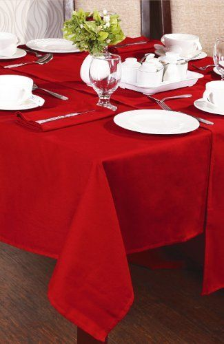 Amazing Red Tablecloth 130cm X 180cm By Textiles Direct