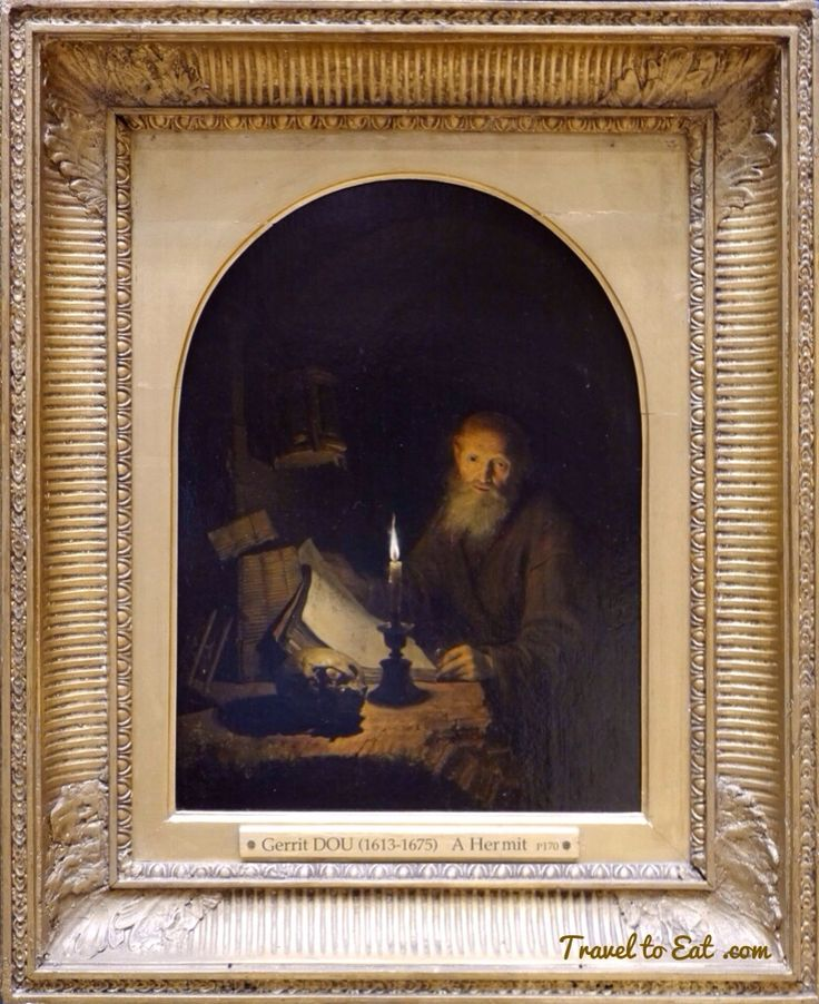 A Hermit by Gerrit Dou 1661. Wallace Collection, London