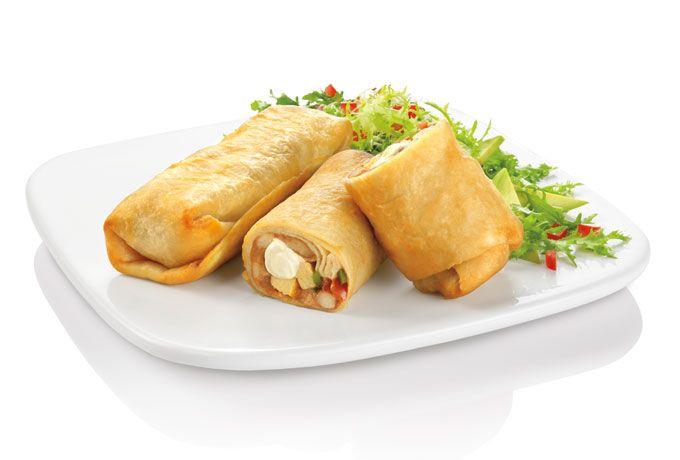 Receta de Burritos de Pollo con Queso Crema
