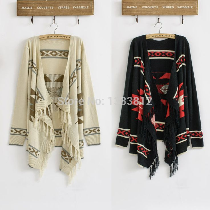 Cheap cardigans juniors, Buy Quality jacket gangster directly from China cardigan clothes Suppliers: Hot Sale Vintage 70s Women Geometric Sweater Aztec Tribal Fringe Indian Gypsy Hippie Knitted Cardigan Jacket Free