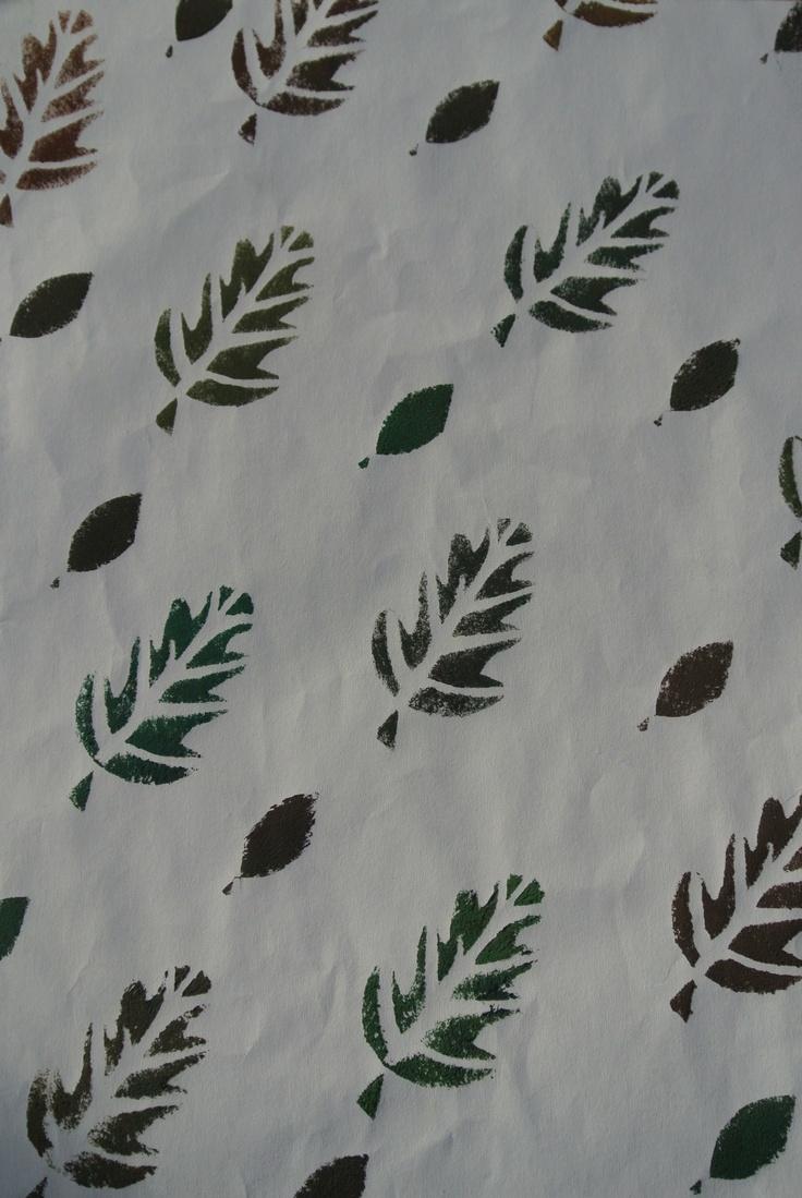Dit is een patroon die ik zelf heb gemaakt door middel van stempelen. Ik ben tevreden over deze tekening.