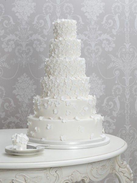 Hydrangea Cascade Wedding Cake Zoe Clark Cakes