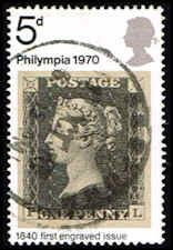 Penny Black Stamp - Queen Victoria - Great Britain #642 Stamp - EU GB 642-1 USED