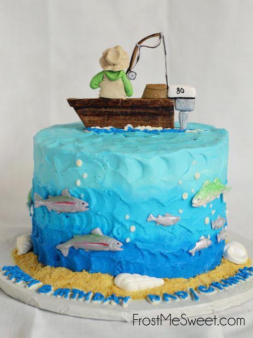 Fishing Fisherman Grooms Cake Man cake by Frost Me Sweet