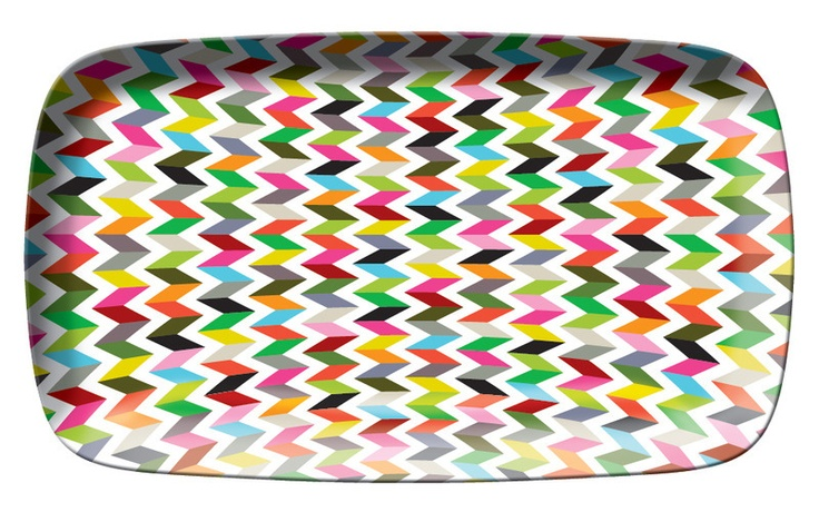 zigzag serving platter/ would be awesome to store jewelry on