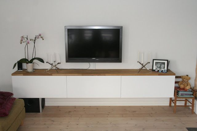 Floating tv stand