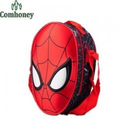 [ 36% OFF ] Kids Lunch Bags For School 3D Spiderman Shoulder Bag For Boys Girls Polyester Cartoon Print Picnic Bags Child Cross-Body Bag