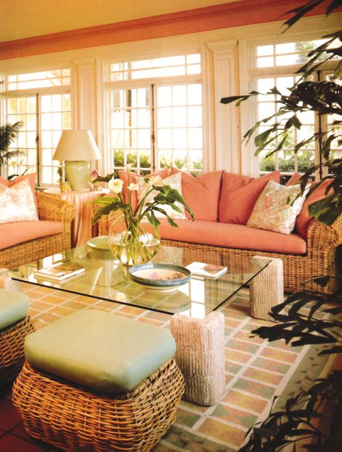 Charming Wicker Furniture Was Big In The