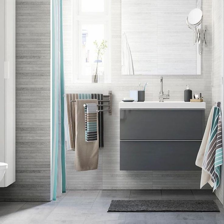 Clean lines, lots of storage and an organized space - that's the look created with the GODMORGON #bathroom series!