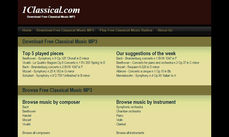best place to download classical music for free
