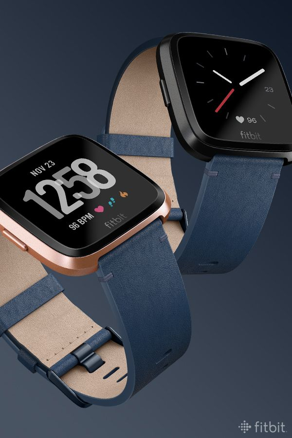 Get An Eyeful Of Fitbit Versa In Midnight Blue Leather These High