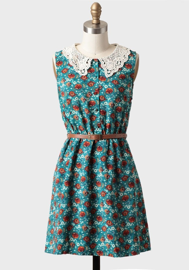 Always Hope Belted Floral Dress | Modern Vintage Dresses