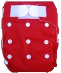 Happy Babes RED An All-In-One Nappy is a Modern Cloth Nappy (MCN) where the insert is sewn together with the outer cover. The All-In-One Nappy can be used from birth to toilet training. All-In-One Nappies consist of a waterproof outer which is usually a polyurethane laminated polyester and a cotton micofibre lining that is extremely soft against the baby's skin. They also have a pocket where additional inserts can be added to the nappy for extra absorbency. PACKAGES AVAILABLE