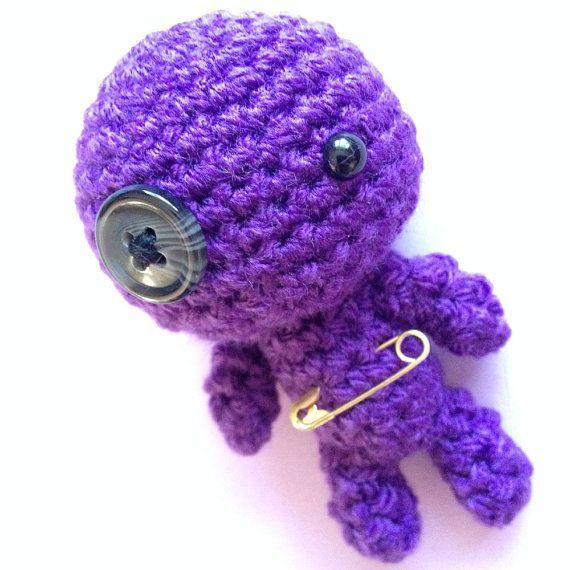 Amigurumi Voodoo Doll : Amigurumi Purple Little Voodoo Doll