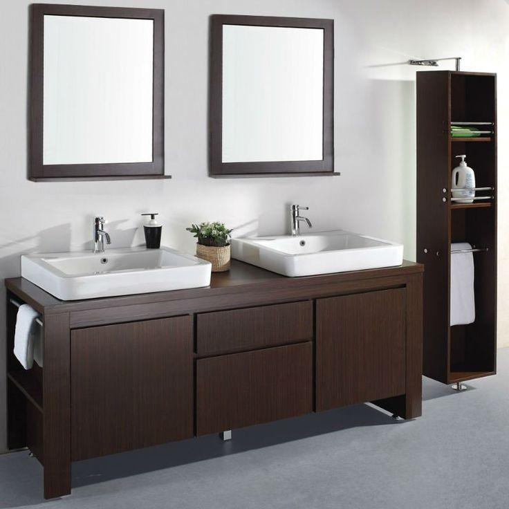 39 39 coffret de salle de bains moderne de caf express du - Double evier salle de bain ...