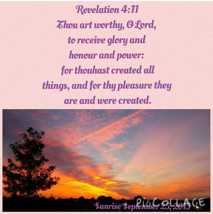 Revelation 4:11