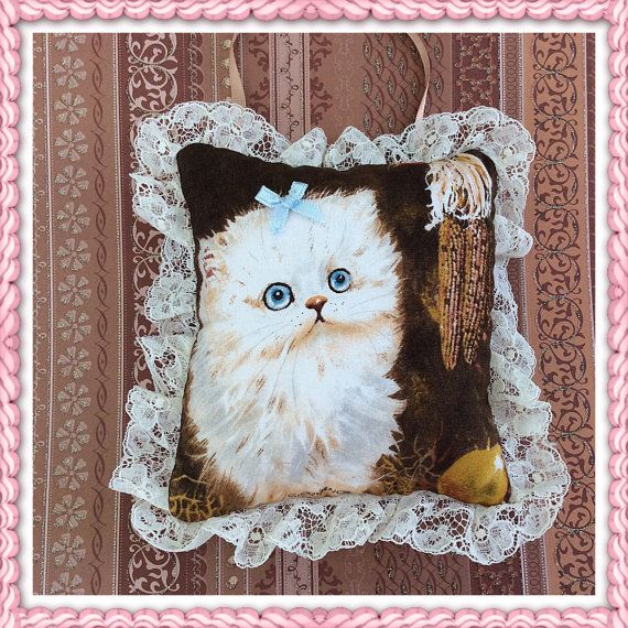 Deur Hanger kat / schattige kat hanger / kleine kat kussen / schattig kitten / decoratieve kussen / kleine zachte kussen / poesje kussen / katten