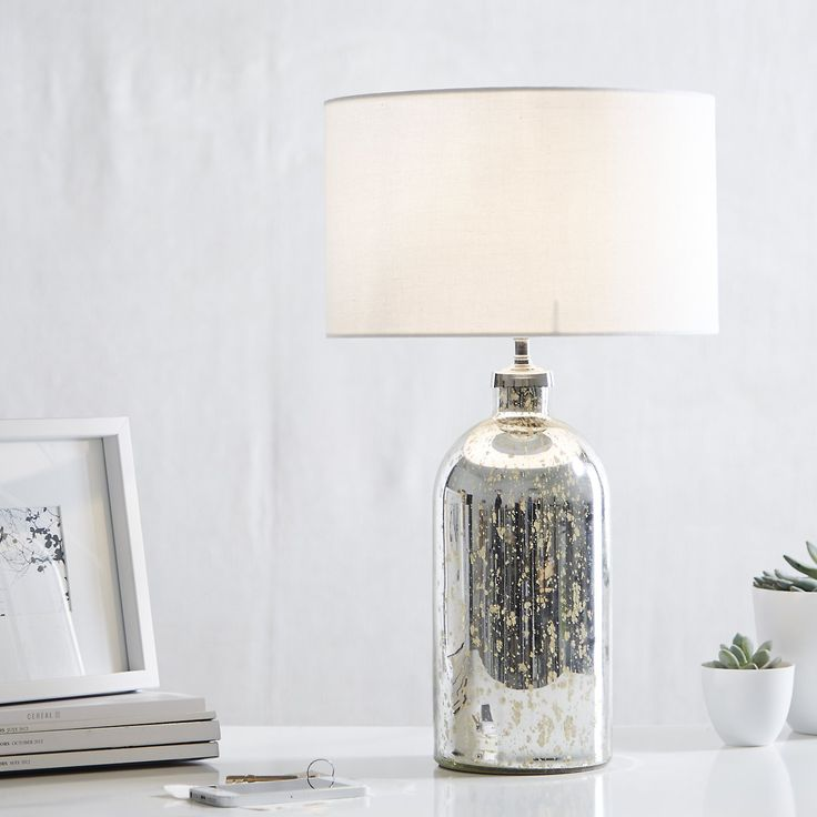 Mercury Bottle Bedside Mini Table Lamp | The White Company