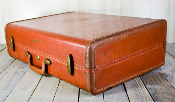Vintage Samsonite Luggage, Brown Samsonite , Leather Suitcase ...