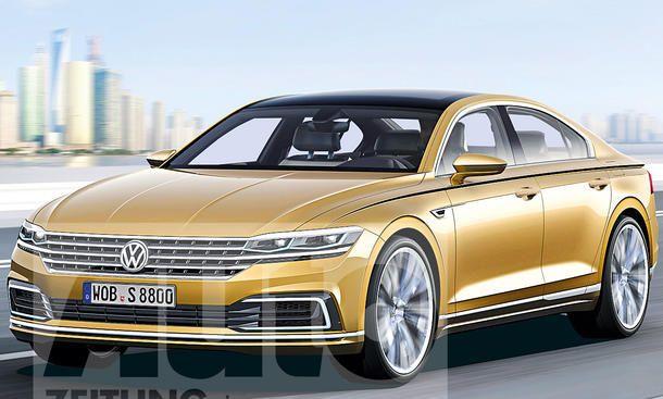 VW Phaeton (bis 2021) Illustration - Der Phaeton nach neuer VW-Philosophie erscheint zwar erst bis 2021, will dafür aber ausschließlich auf einen Elektroantrieb setzen. Wie das Design des kommenden Passat, wird sich auch die zweite Phaeton-Generation an d
