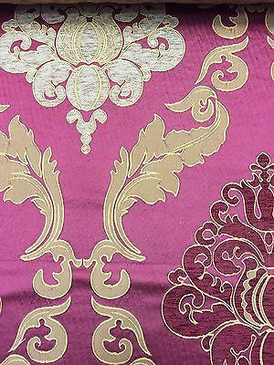 Red-Burnout-Damask-Upholstery-Drapery-Fabric-Sold-By-The-Yard-54-55