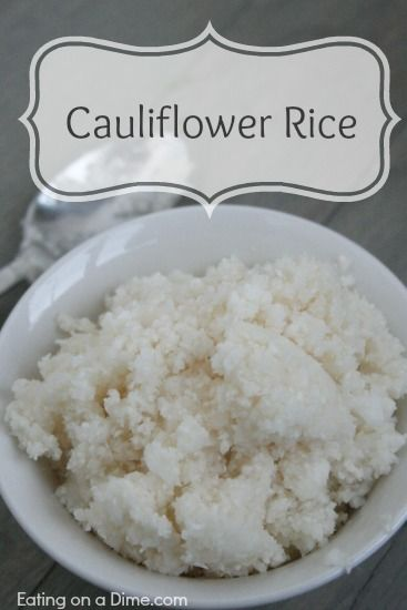 Cauliflower Rice - Tastes great! - Eating on a Dime