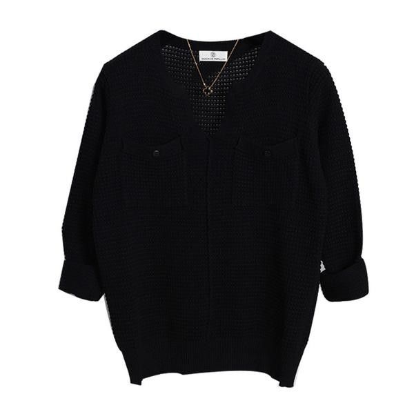 High Quality Women's Casual Cashmere Knitted Loose Sweater 6 Colors One Size