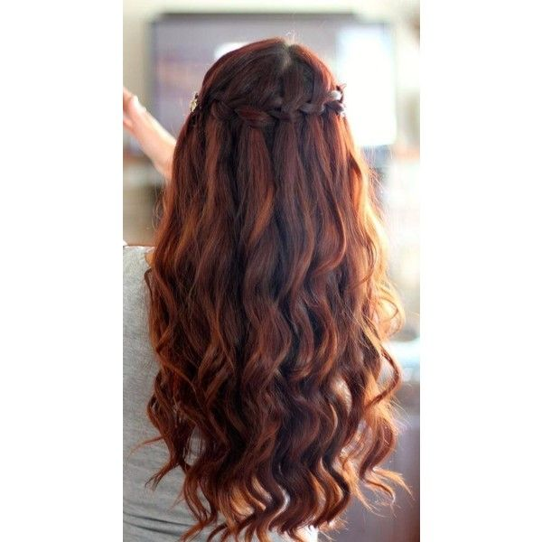 Auburn hair w/ brown lowlights Its All About The Hair ❤ liked on Polyvore featuring hair