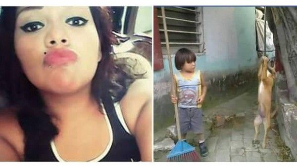 Mexican woman hangs family dog, encourages nephew to pound it like a piñata! | YouSignAnimals.org