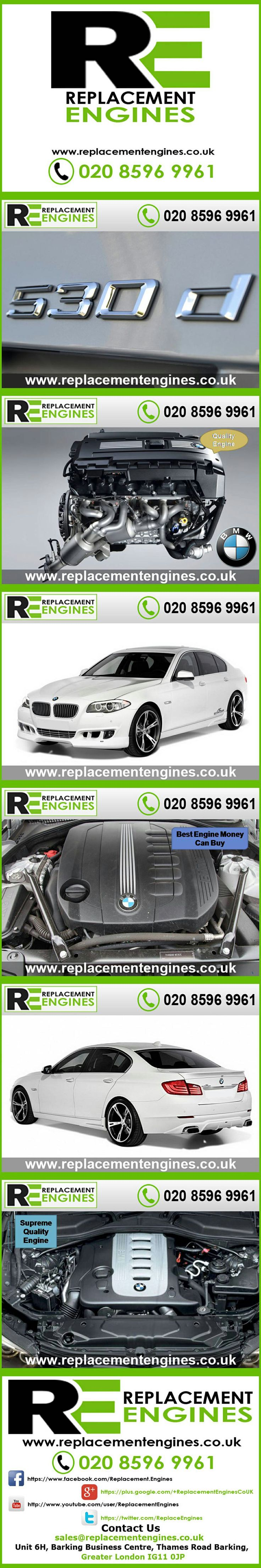 BMW 530d Engines for sale at the cheapest prices, we have low mileage used & reconditioned engines in stock now, ready to be delivered to anywhere in the UK or overseas, visit Replacement Engines website here.  http://www.replacementengines.co.uk/car-md.asp?part=all-bmw-530ddiesel-engine&mo_id=31174