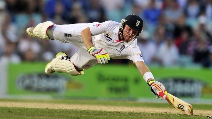 England's Ian Bell is run out despite diving for his ground. England win the Ashes 3-0 against the old foe, Australia.