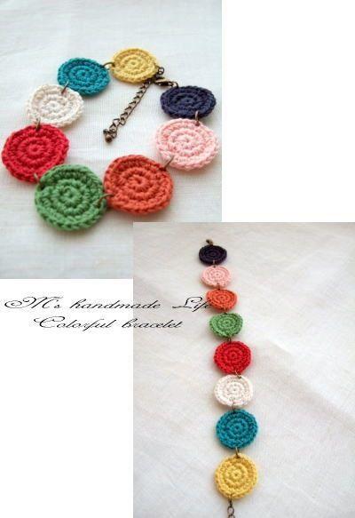 crochet motif bracelet by M's Handmade Life ❥Teresa Restegui http://www.pinterest.com/teretegui/❥