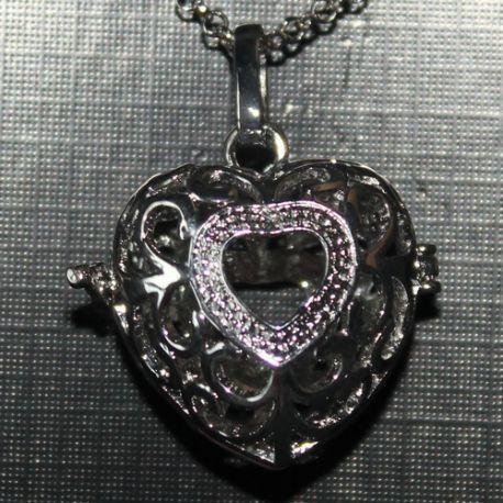 Engelenroeper 16mm hart zilver € 7,95