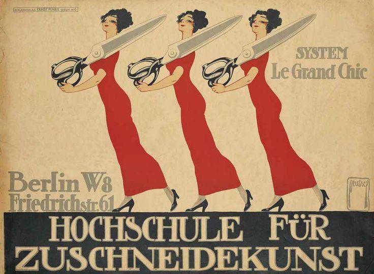 Hochschule für Zuschneidekunst - System Le Grand Chic - Berlin - (Ernst Dryden Deutsch) -