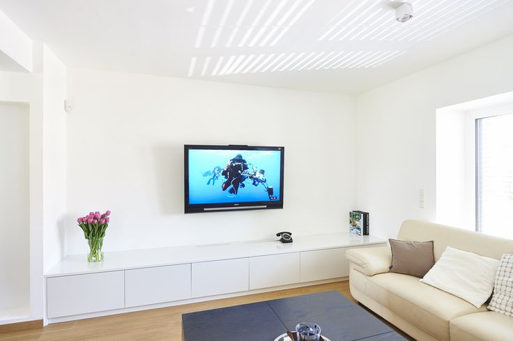 Meuble tv bas blanc design