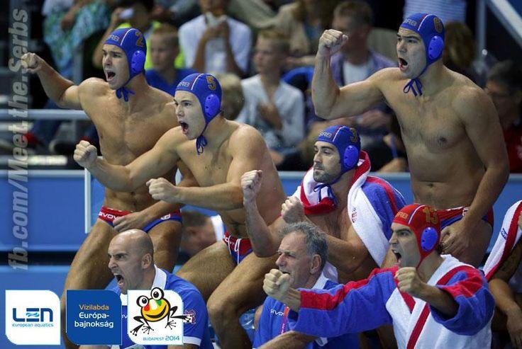 #Serbia is EUROPEAN WATER POLO CHAMPION! | #Србија је ЕВРОПСКИ ПРВАК У ВАТЕРПОЛУ!!! #Budapest2014 #SRB 12:7 #HUN pic.twitter.com/OJyyA1UmBC