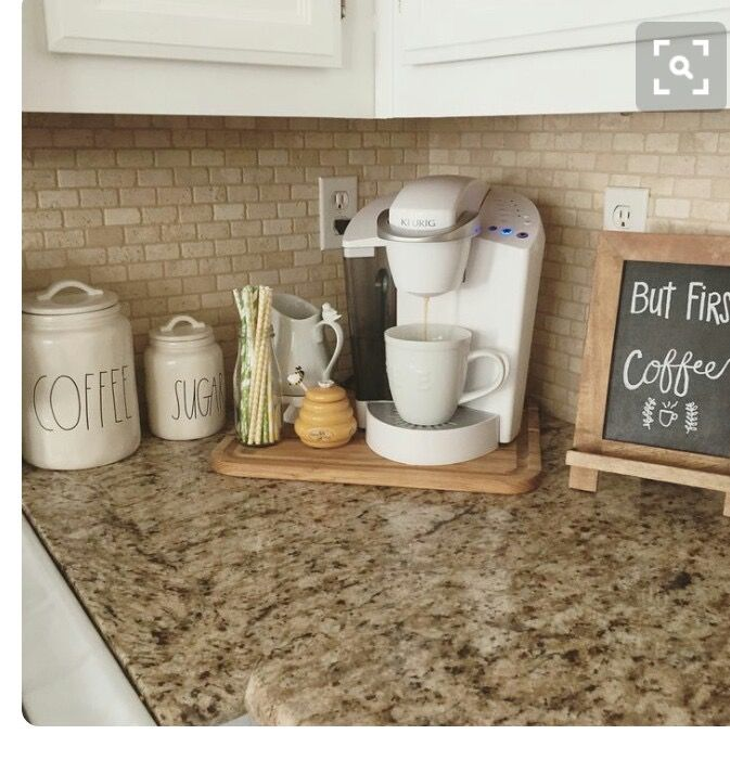 17 best ideas about home coffee bars on pinterest home for Countertop coffee bar ideas