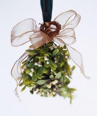 Mistletoe bouquets...