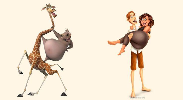 E se os animais dos desenhos animados fossem humanos? - A ilustradora russa Astkhik Rakimova transformou personagens conhecidos como Timão e Pumba, Bob Esponja e o Pateta em seres-humanos. Confira suas ilustrações.