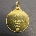 "Ma Fine Gold 999.9 2.5 g ""MOM"" Iridescent Pendant C $212.24 Jewels411.com – All the fine trends of Jewelry"