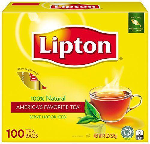 Lipton Tea Bags, 100 Tea bags - http://teacoffeestore.com/lipton-tea-bags-100-tea-bags/