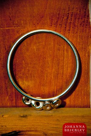 One of a Kind lucky stone bracelet in sterling silver