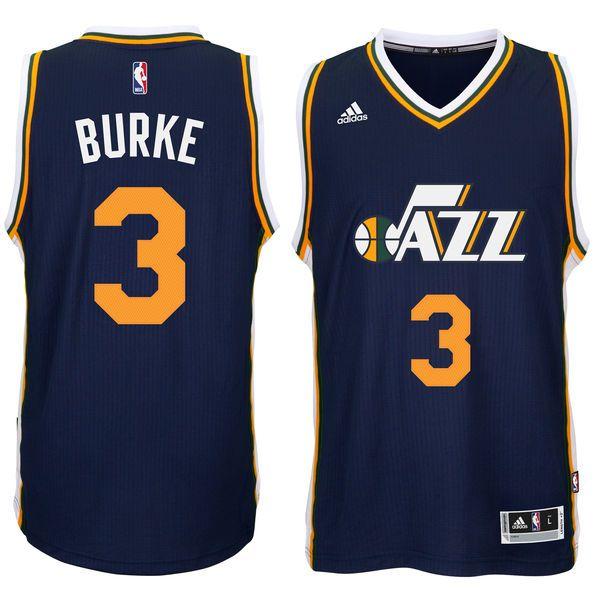 Trey Burke Utah Jazz adidas Player Swingman Road Jersey - Navy - $65.99